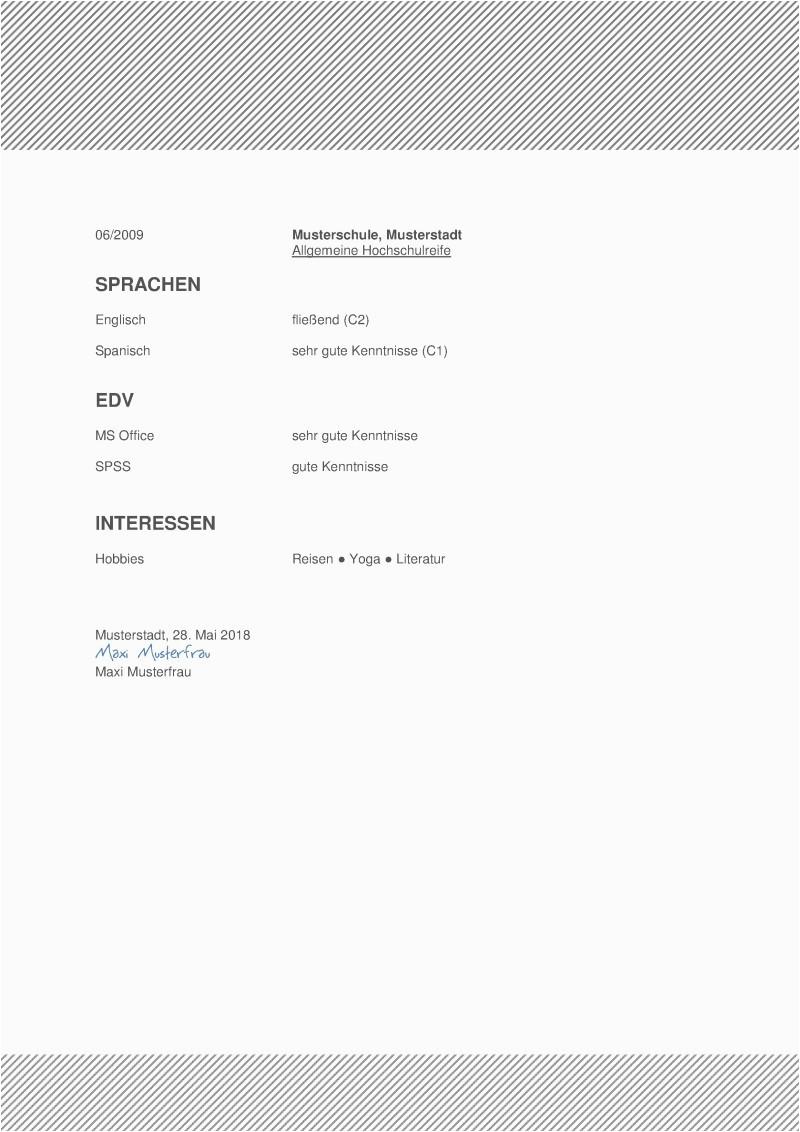 Musterlebenslauf Nummer 16 Seite 02