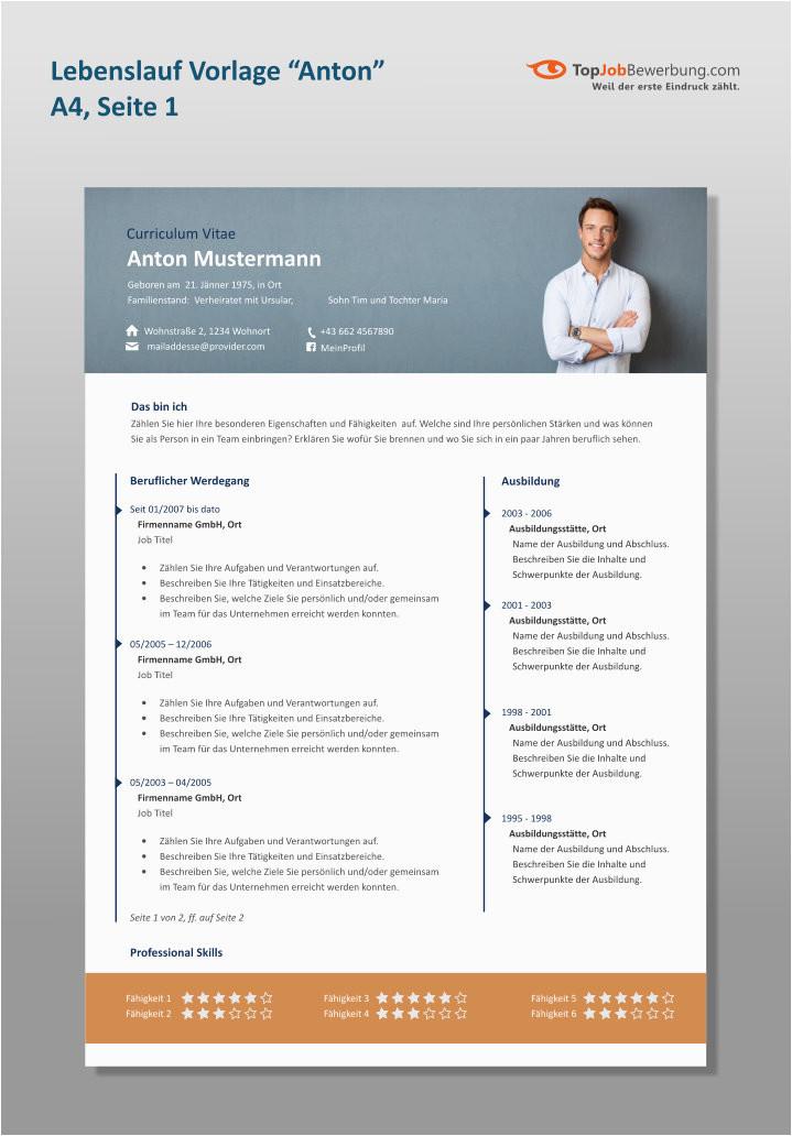 Lebenslauf Designs Kaufen Professioneller Lebenslauf Für Erfolgreiche Bewerber Innen