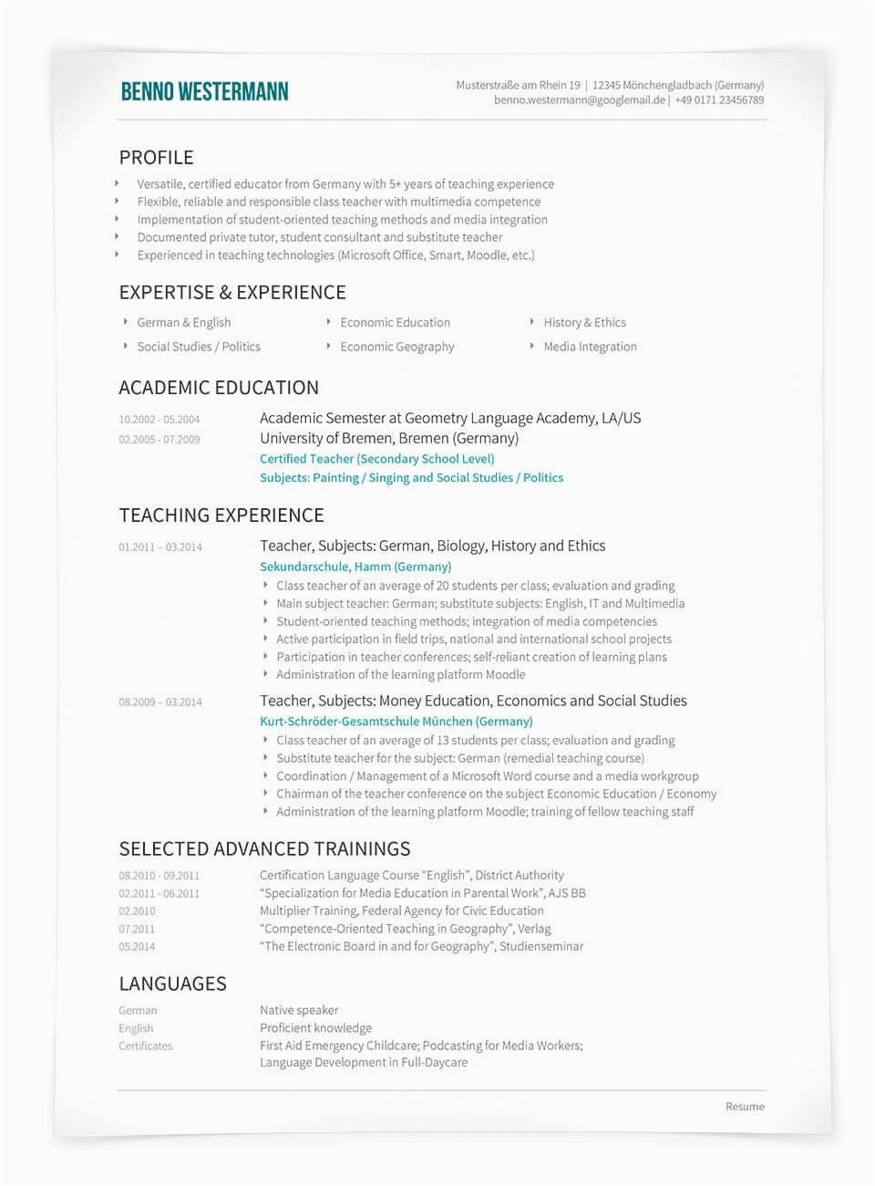 Lebenslauf Deutsch Vs Englisch Lebenslauf Englisch Cv Oder Résumé Unterschiede