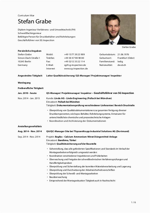 Lebenslauf Englisch Diplom Ingenieur 2015 01 26 Cv Stefan Grabe De E Signed