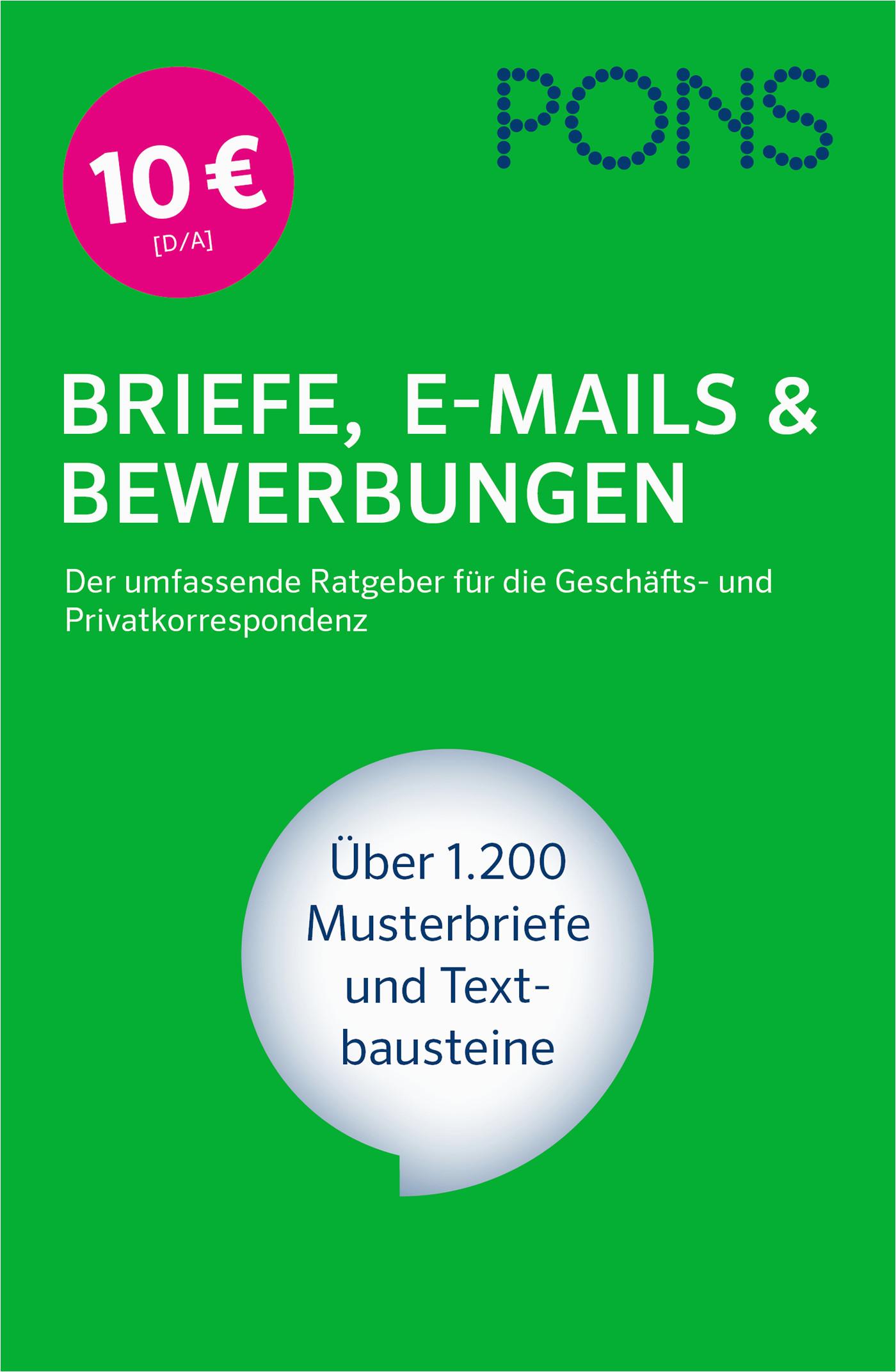 buch pons briefe e mails bewerbungen 978 3 12 7