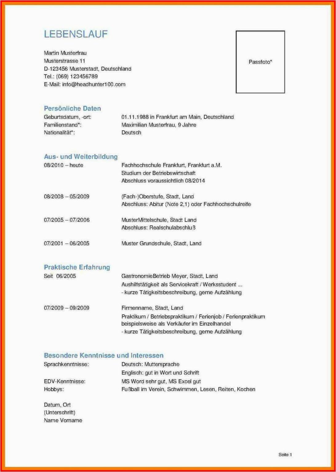 europass lebenslauf deutsch beispiel englisch muster vorlage tabellarischer doc word vorlagen student deutsch englisch pdf kostenlos interessen und 1092x1532