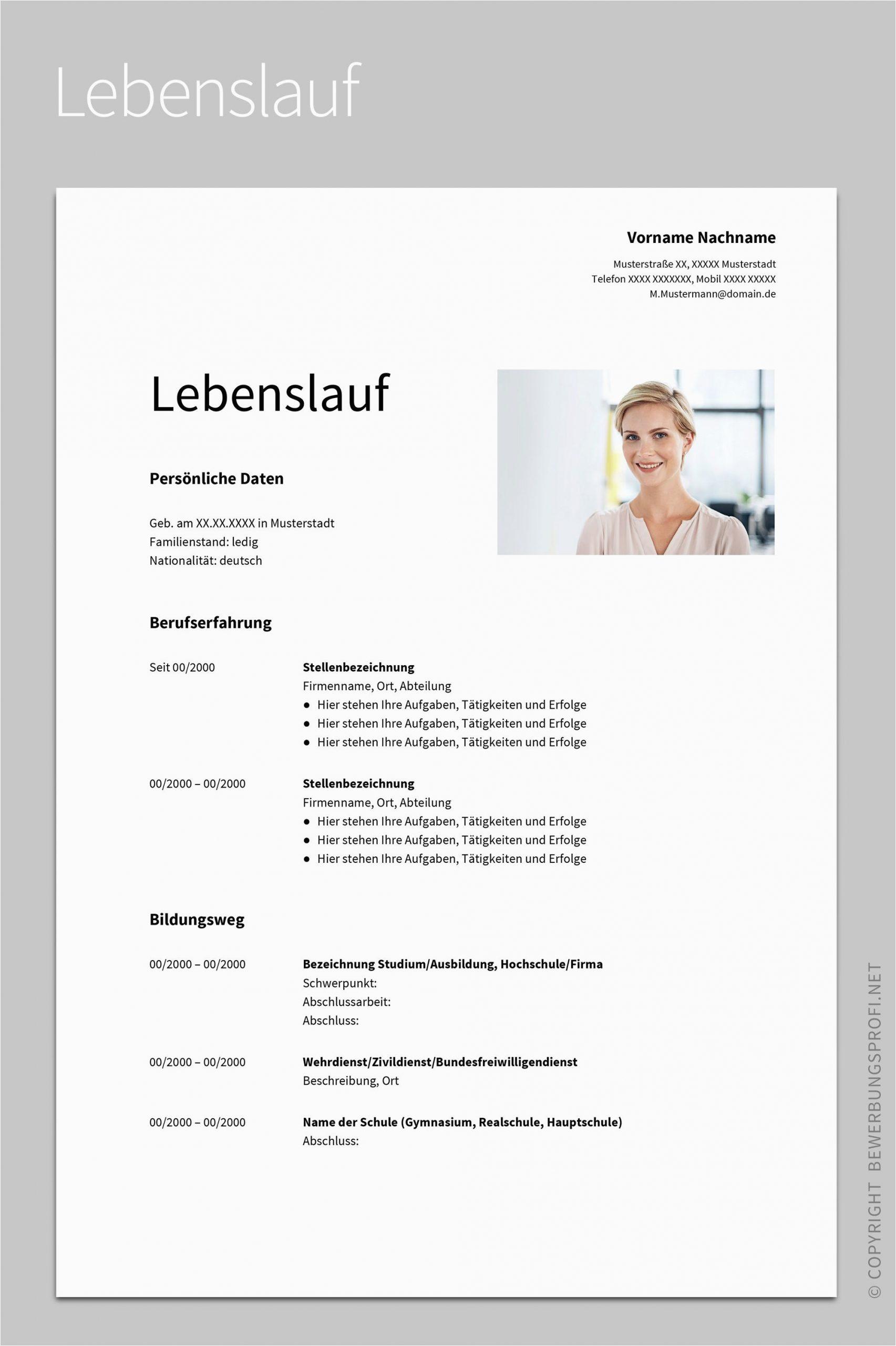 Lebenslauf Studium Design Bewerbung Albus 2020