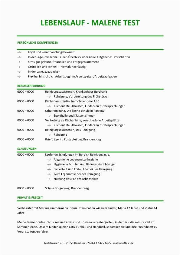 Lebenslauf Vorlage Grün Lebenslauf Chronologisch Kompetenzprofil Grün Cv & Bewerbung