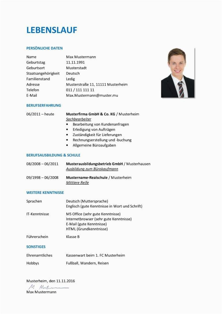 Lebenslauf Auf Deutsch Beispiel Der Tabellarische Lebenslauf Aufbau Inhalt format