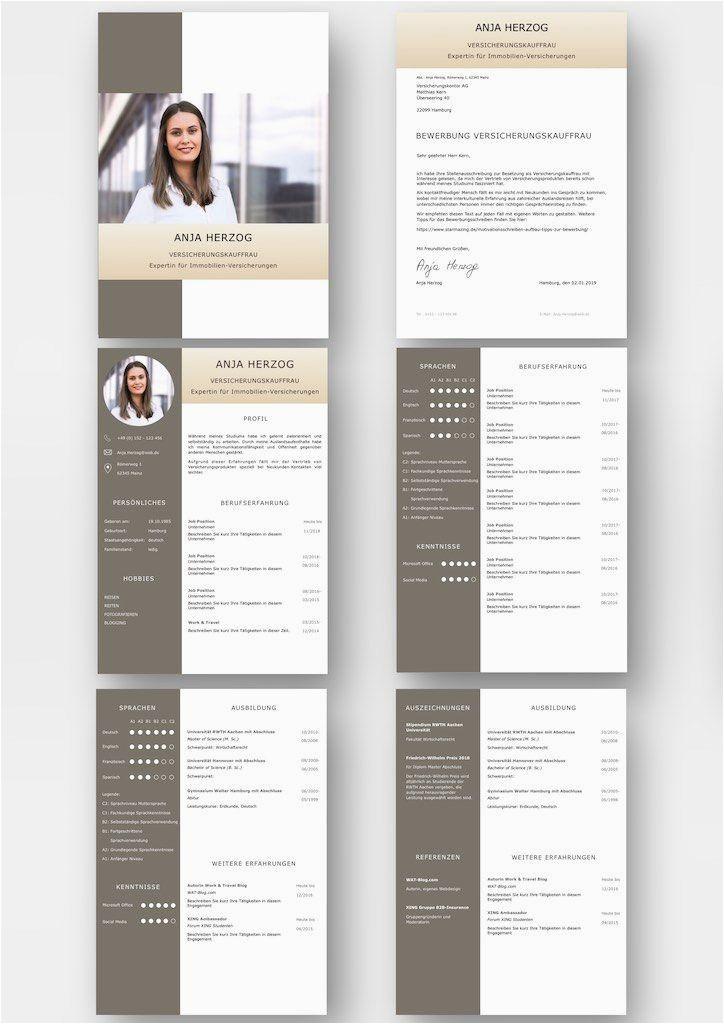 Lebenslauf Design Pages Bewerbungsvorlage Premium Bernstein Für Viel Berufserfahrung