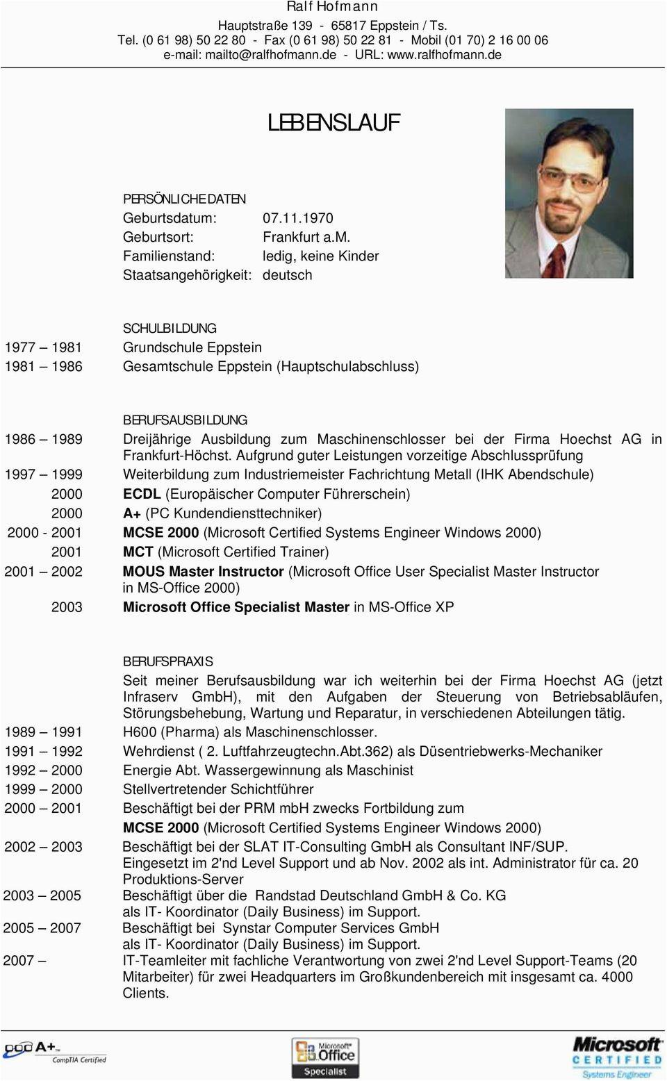 Ralf hofmann lebenslauf geburtsdatum 07 11 1970 geburtsort frankfurt a m familienstand ledig keine kinder staatsangehoerigkeit deutsch