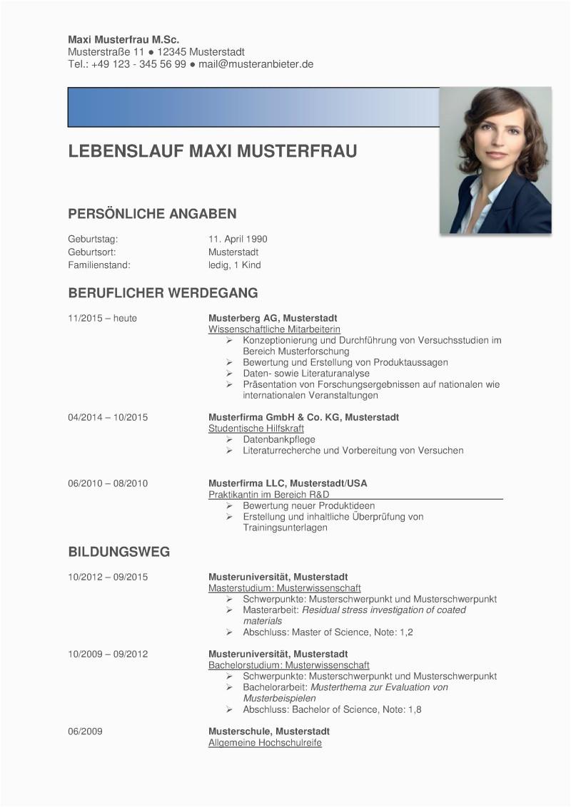 Lebenslauf Professionell Gestalten Lassen Kostenlose Lebenslauf Muster Professionell Modern & Im