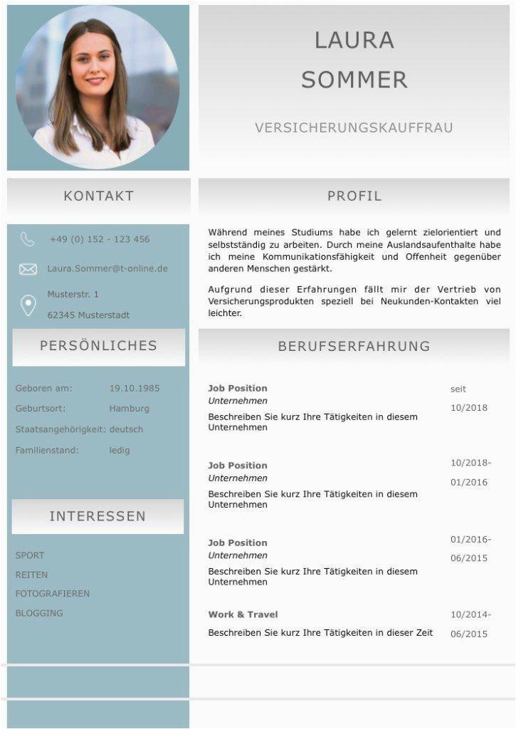 Lebenslauf Profil Deutsch Lebenslaufvorlage Cv Emerald Candidate In Deutsch Download