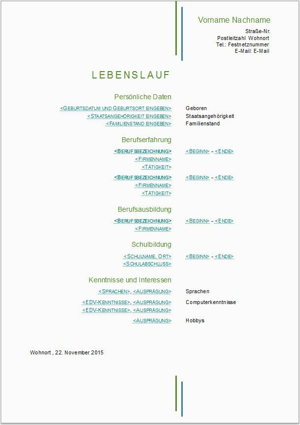 Lebenslauf Vorlage Libreoffice Bewerbungsvorlagen Für Libreoffice