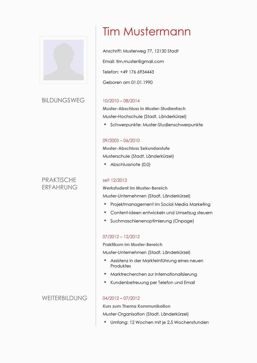 Lebenslauf Architektur Praktikum Lebenslauf Muster 12