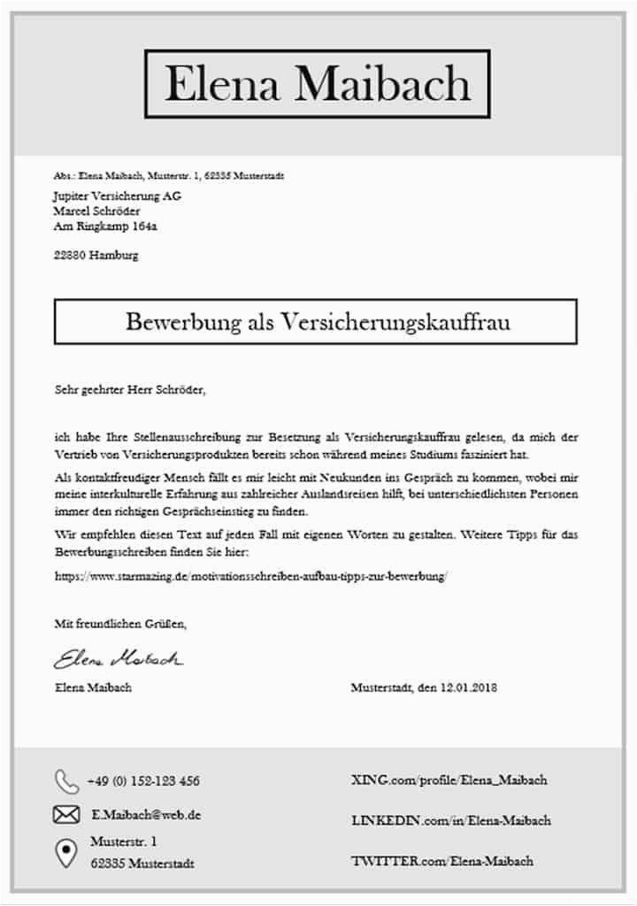 Bewerbungsvorlage Xing