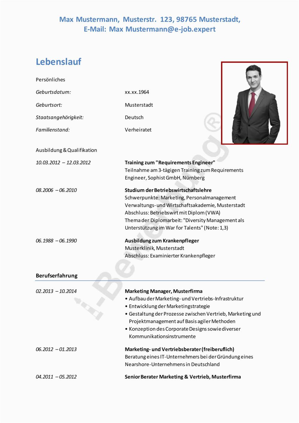 i Bewerbung Marketing Manager Lebenslauf pdf