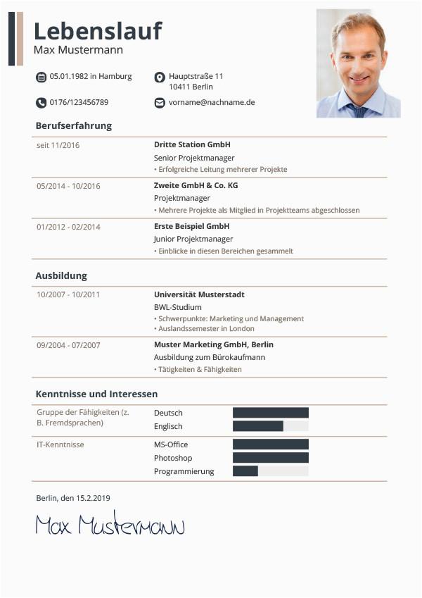 Lebenslauf Auf Deutsch Pdf Lebenslauf Vorlagen & Muster Kostenloser Download Als Pdf