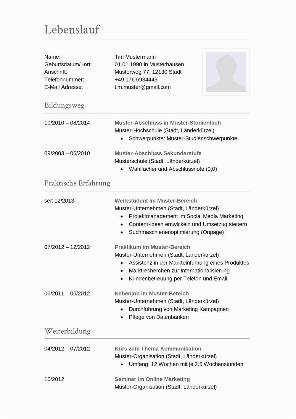 Lebenslauf Buchhalter Vorlagen Lebenslauf Muster Für Buchhalter