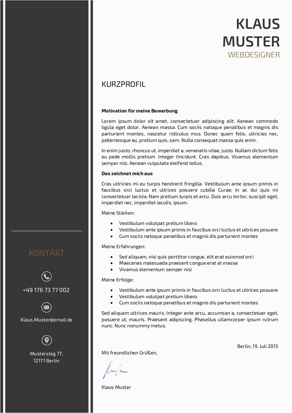 Lebenslauf Designs Motivationsschreiben Premium Bewerbungsmuster 3