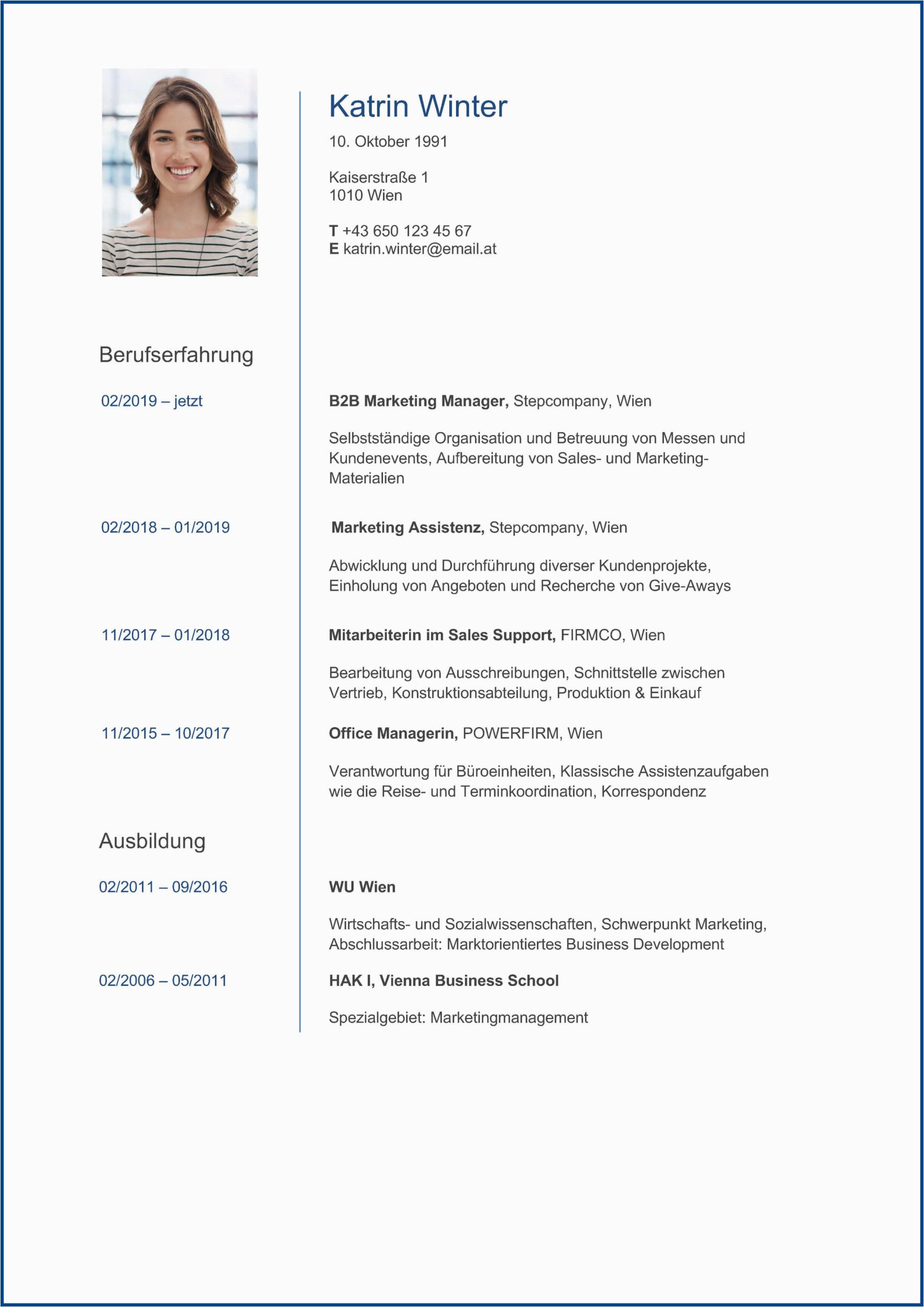 Lebenslauf Deutsch Ausbildung Der Perfekte Lebenslauf Aufbau Tipps Und Vorlagen