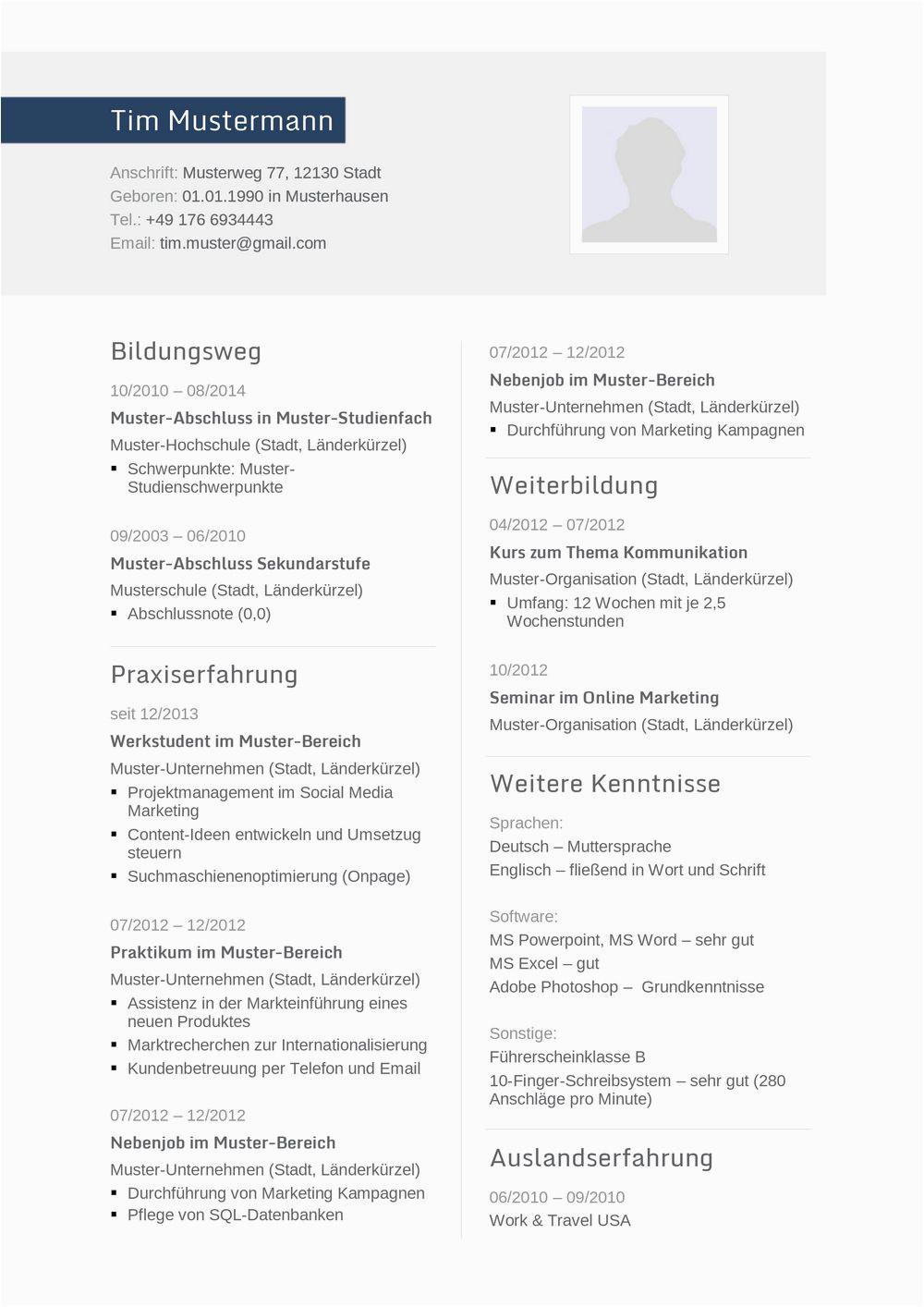Lebenslauf Deutsch Ingenieur Lebenslauf Muster Für Ingenieur