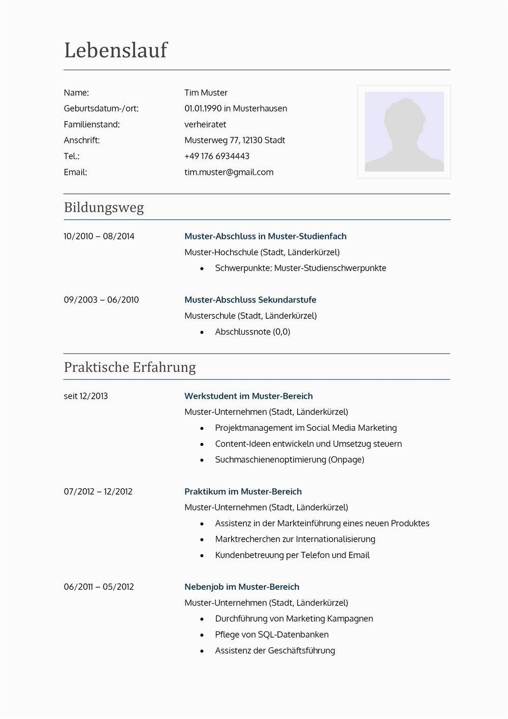 Lebenslauf Englisch Referendariat Lebenslauf Muster Für Lehrer