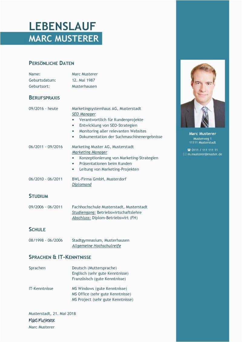 Lebenslauf Modell Auf Deutsch Tabellarischer Lebenslauf Vorlage Kostenlose Muster Zum