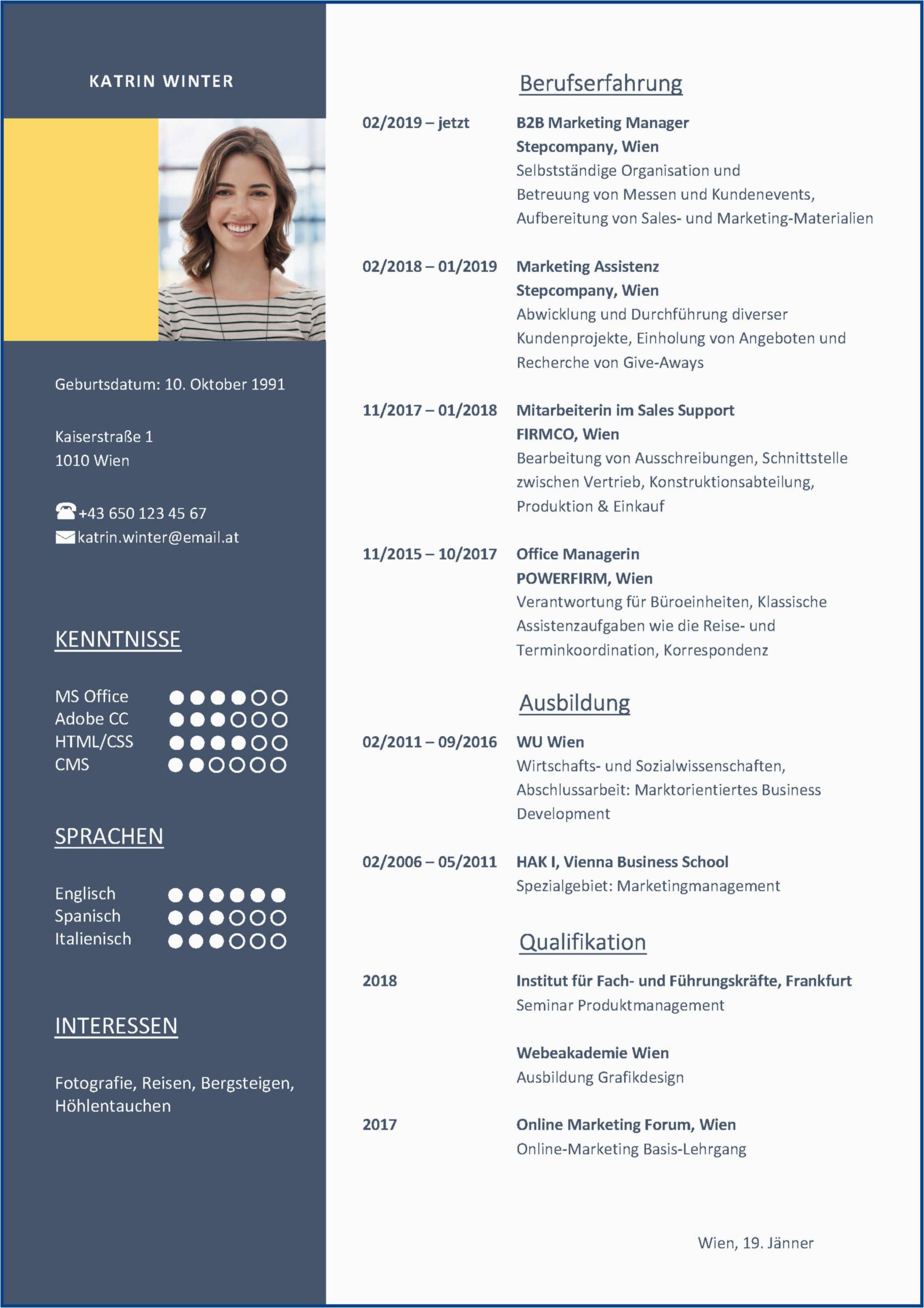 Moderner Business Lebenslauf Der Perfekte Lebenslauf Aufbau Tipps Und Vorlagen