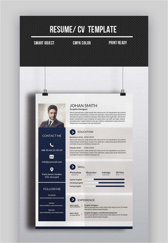 Moderner Lebenslauf Powerpoint 20 top Einseitige Lebenslauf Vorlagen Mit Einfachen Beispielen