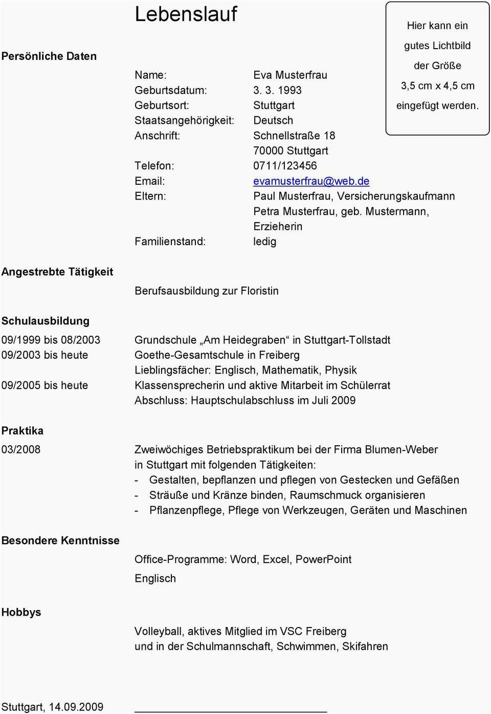 hauptschulabschluss englisch lebenslauf lebenslauf personliche daten eva musterfrau pdf free of hauptschulabschluss englisch lebenslauf