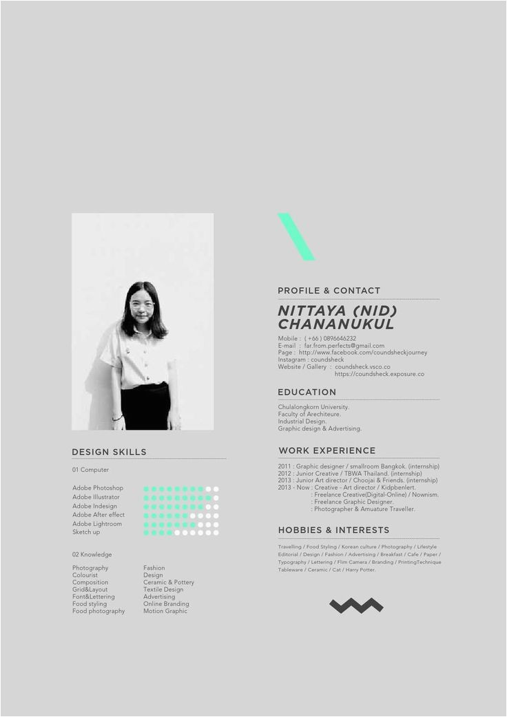Lebenslauf Architektur Portfolio Coundsheck Chananukul Mit Bildern
