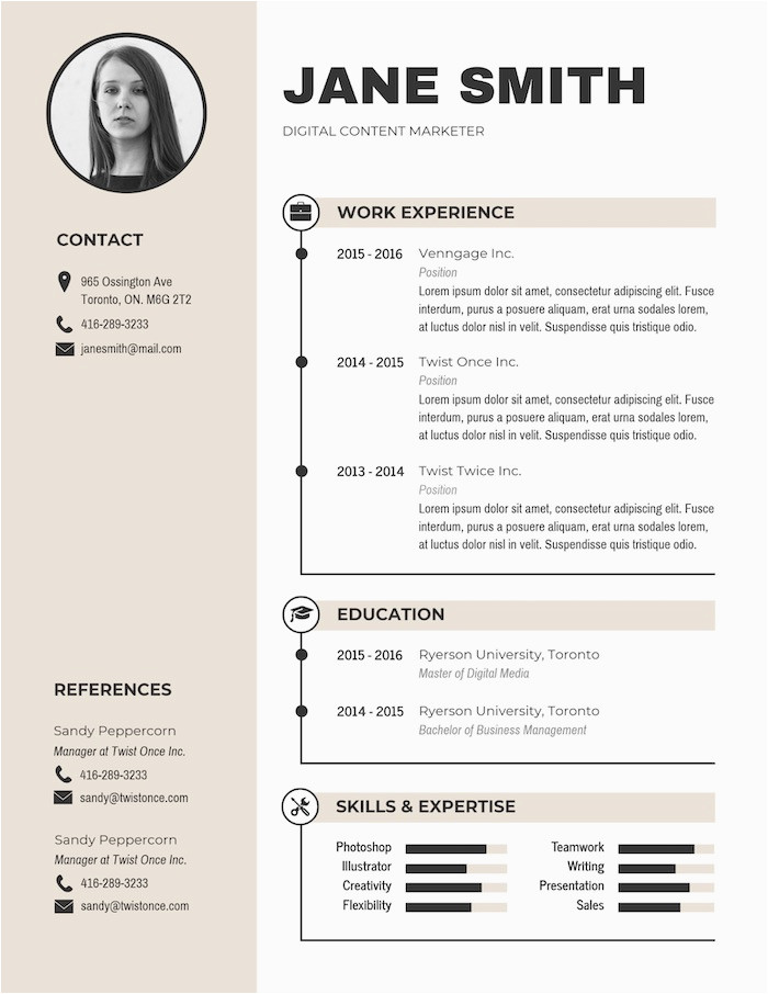 Modern Simple Business Resume Template