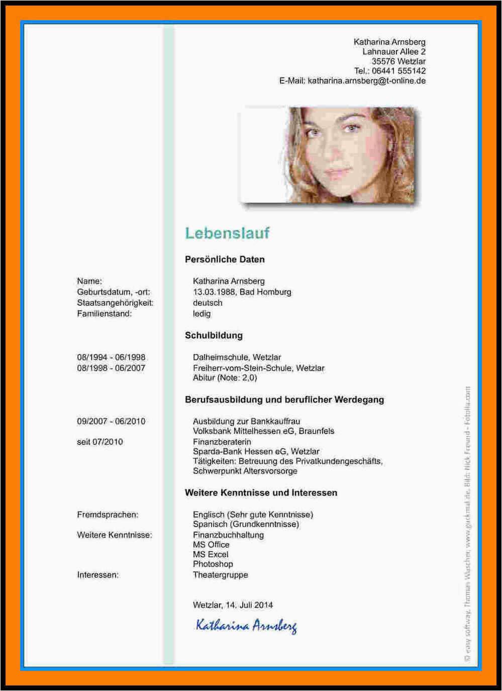 Lebenslauf Bankkauffrau Englisch Lebenslauf Vorlage Uni Absolvent Für Universität Muster