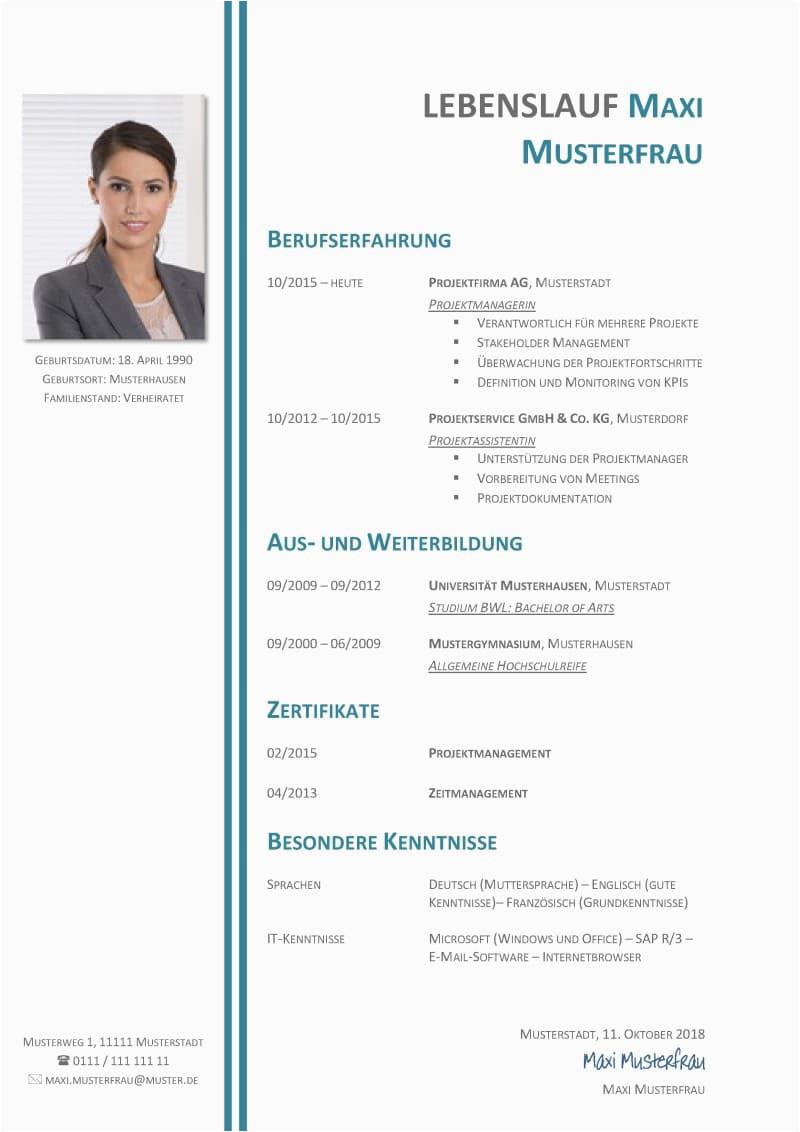 Lebenslauf Deutschland Vorlage Tabellarischer Lebenslauf Vorlage Kostenlose Muster Zum