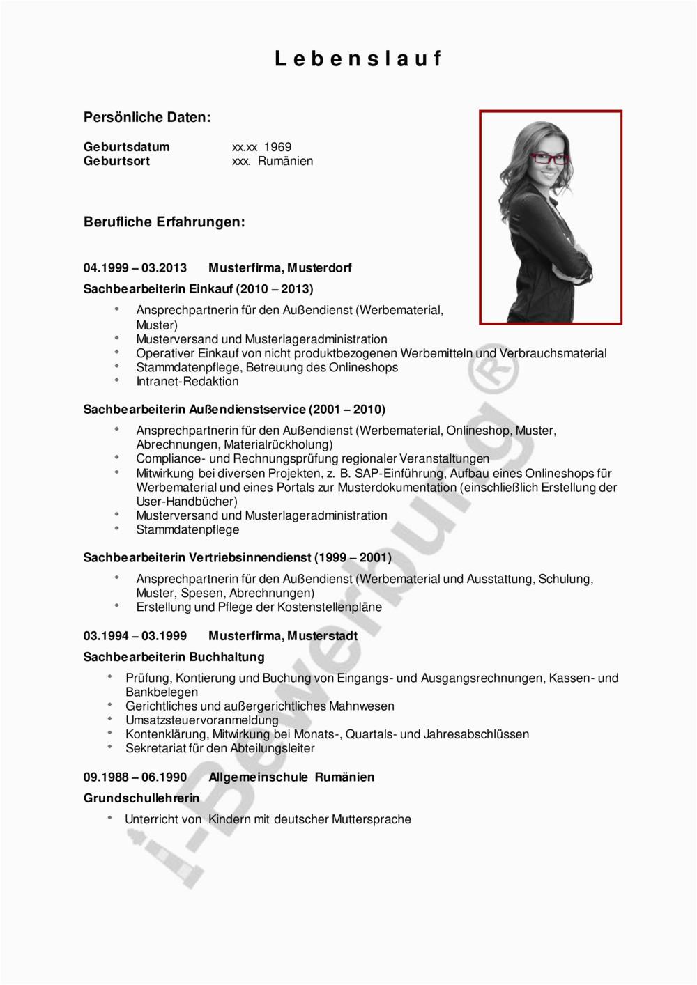 Lebenslauf Initiativbewerbung Teamassistenz pdf