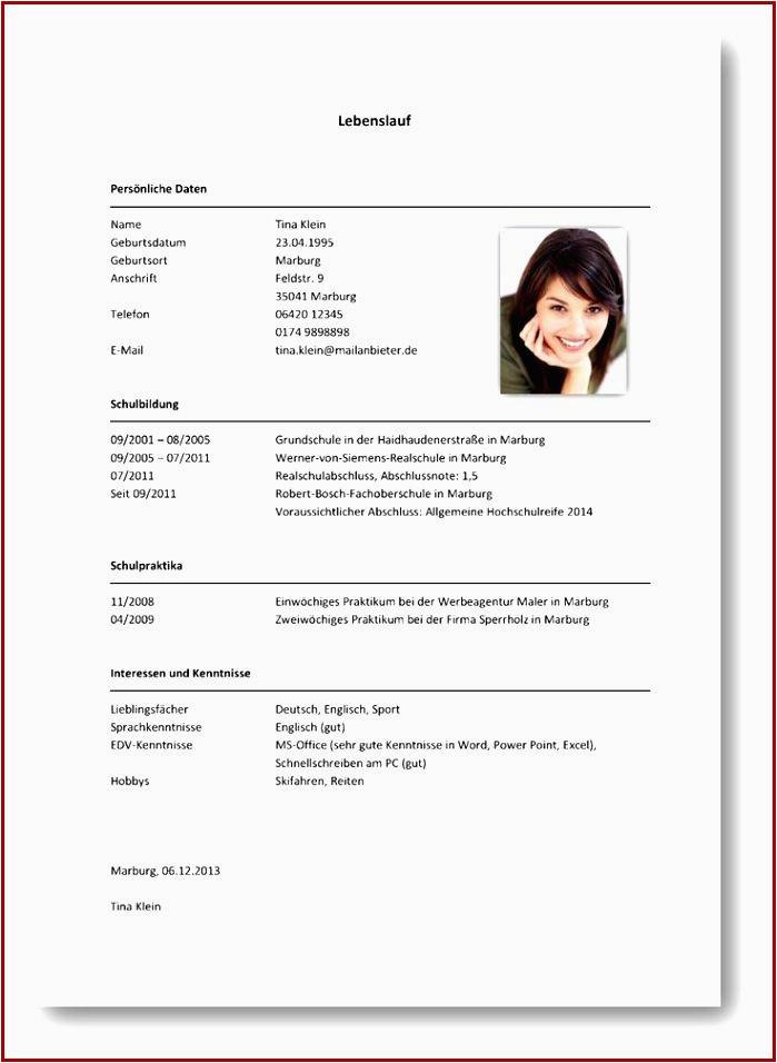 Realschulabschluss Englisch Lebenslauf Lebenslauf Fur Schule Zki5cv Lebenslauf Praktikum Schüler