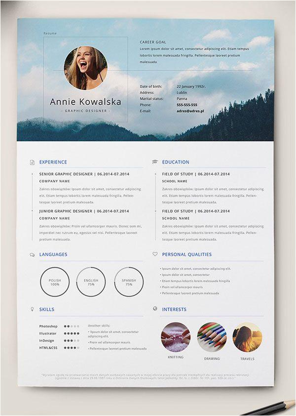 Gratis Lebenslauf Design 10 Best Free Resume Cv Templates In Ai Indesign Word