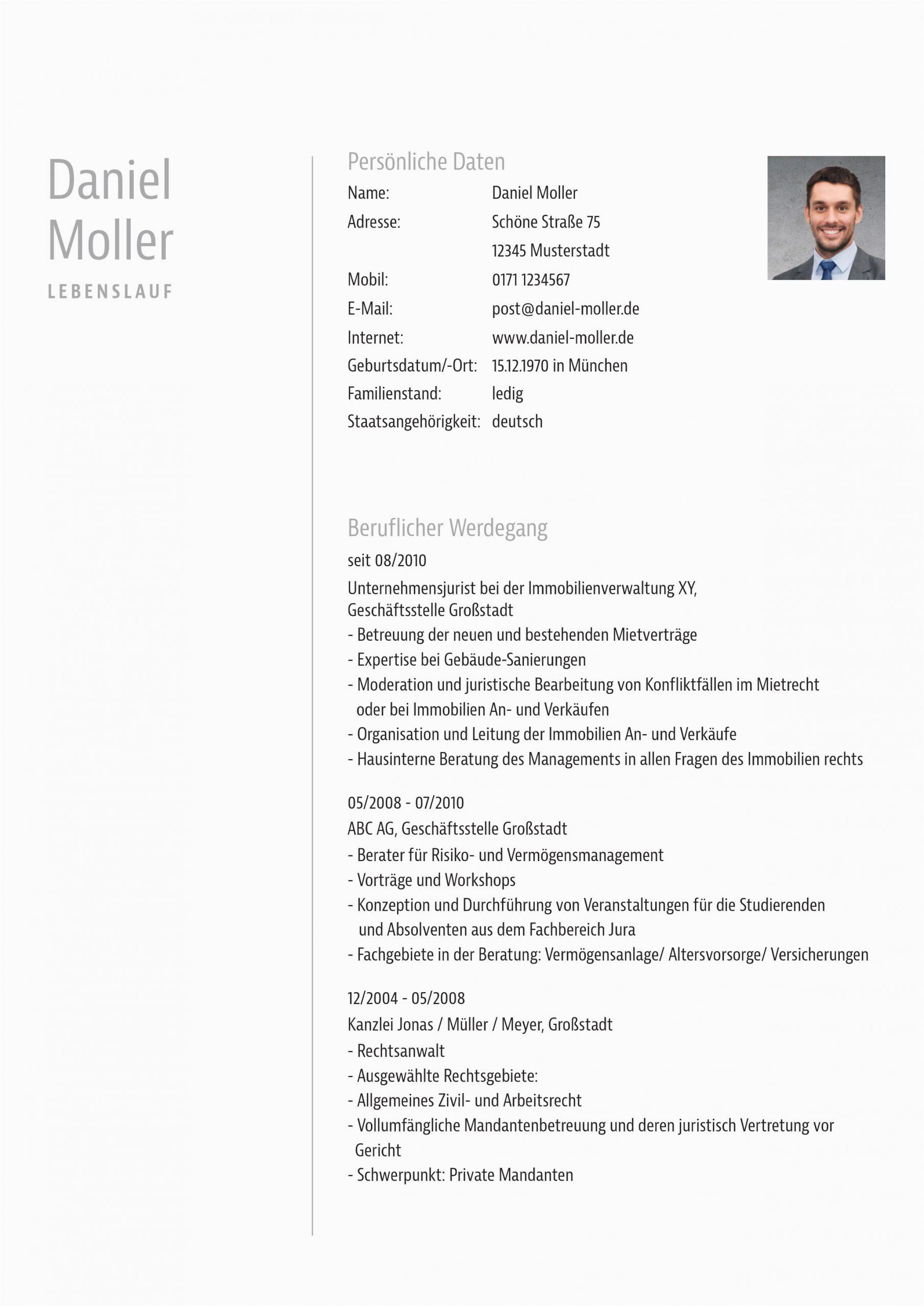 Juristischer Lebenslauf Englisch Muster Bewerbungsvorlage Für Anwälte Und Justisten