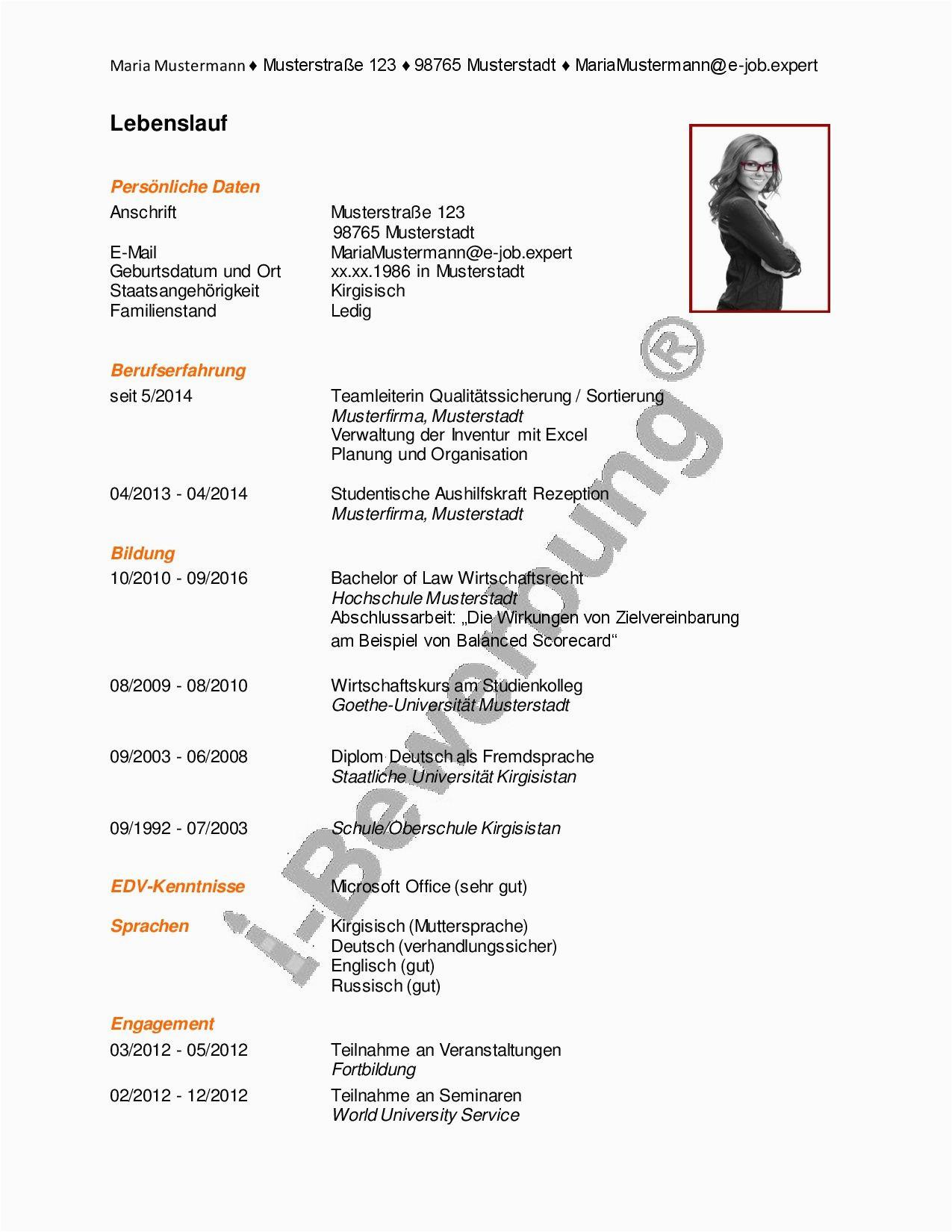 Lebenslauf Deutsch Chronologisch Chronologie Im Lebenslauf Mit Bildern