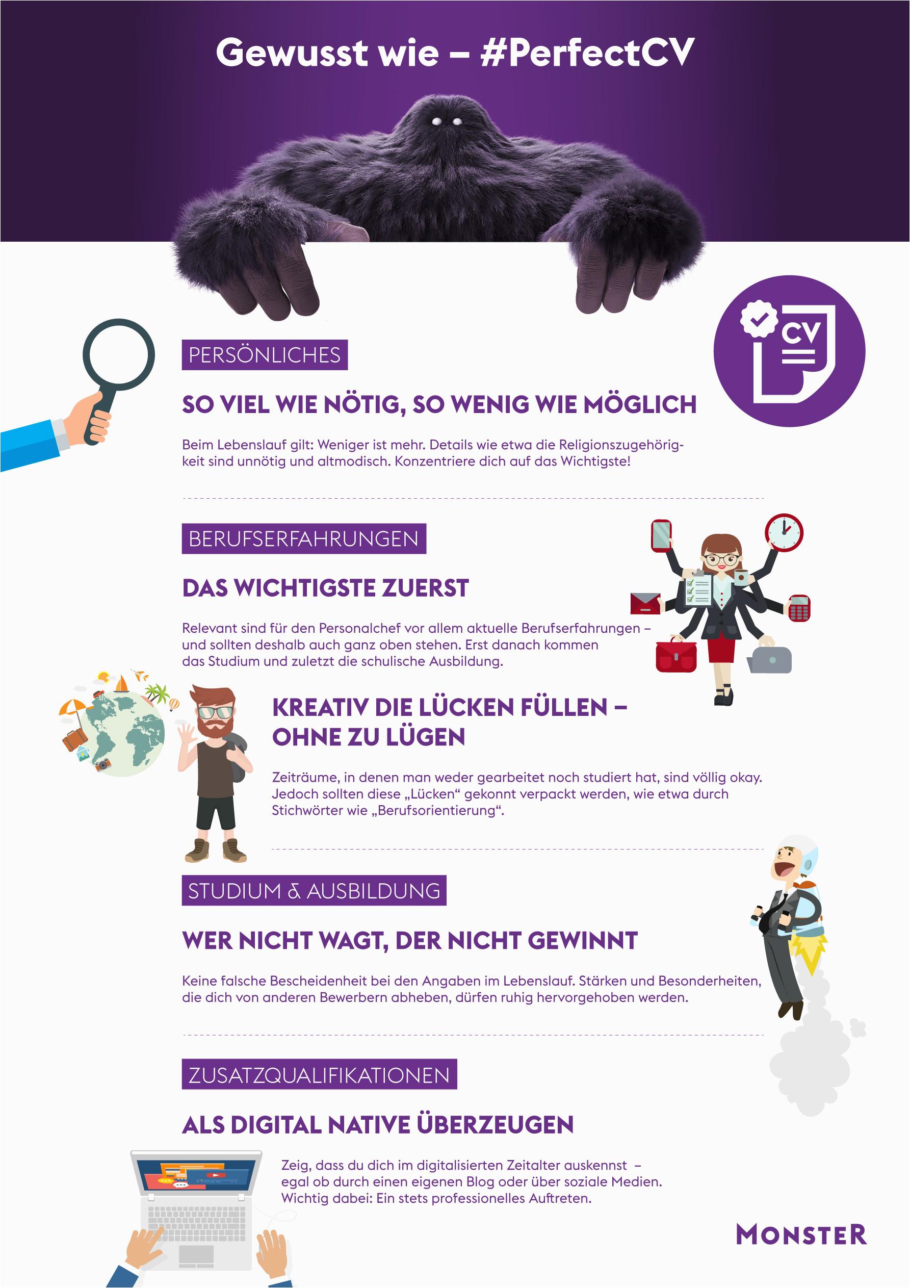 Lebenslauf Englisch Monster Perfekter Cv 15 Tipps Zum Lebenslauf