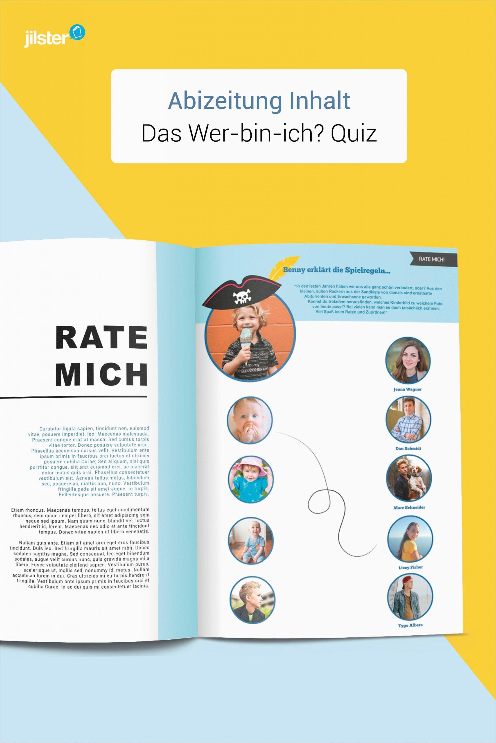 Lebenslauf Grafikdesign Quiz Wer Bin Ich Quiz Für Eure Abizeitung