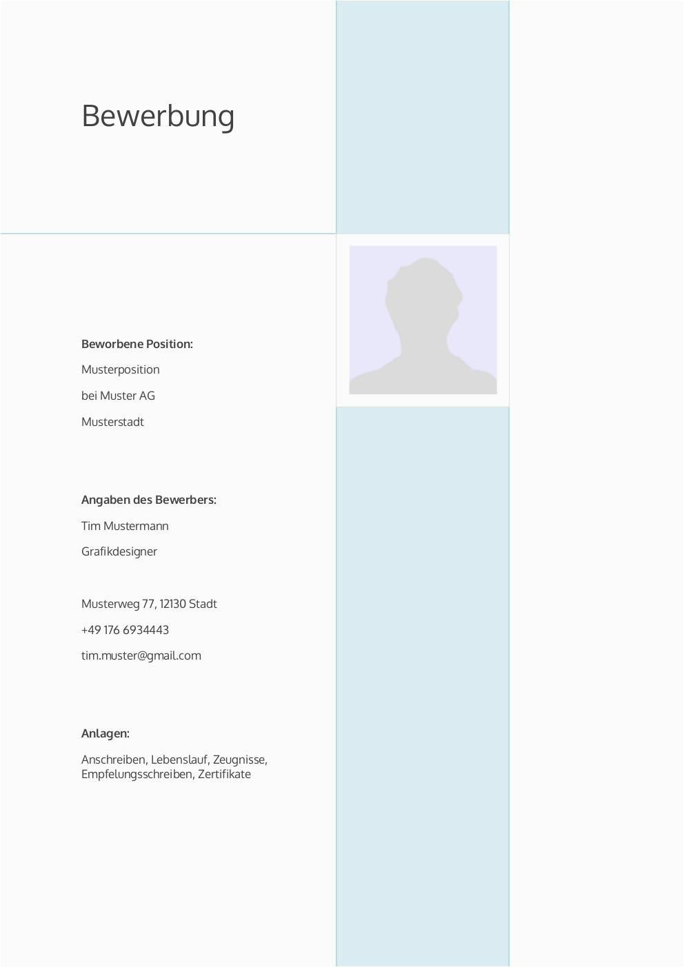 Lebenslauf Vorlagen Deckblatt Bewerbung Deckblatt Muster Vorlage 4