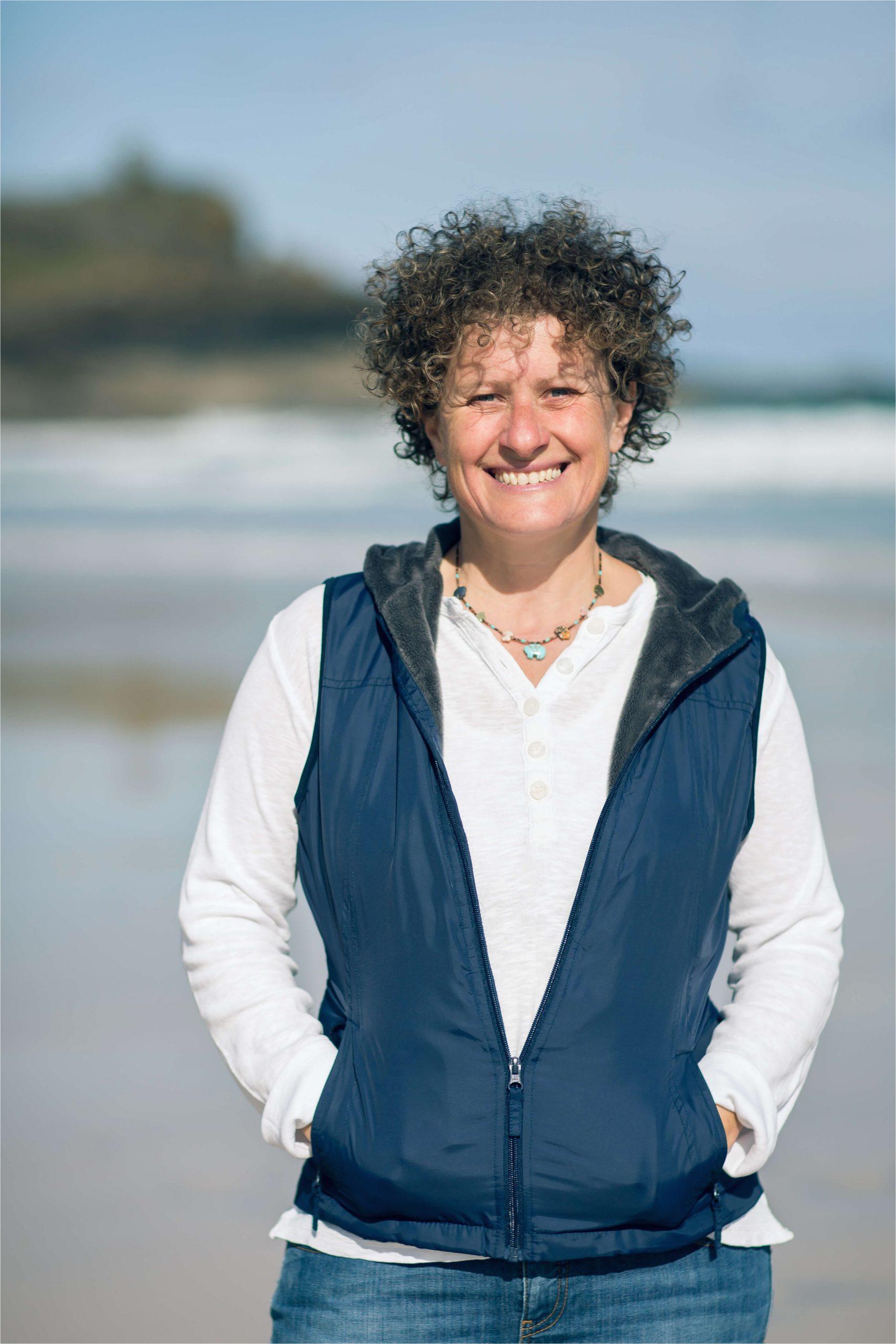 Liz on Beach Author pic