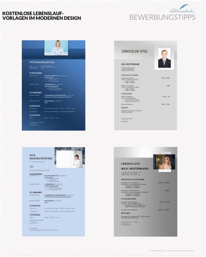 Kostenlose Lebenslauf Design Lebenslauf Vorlagen Modern Und Kostenlos Zum Download Hier