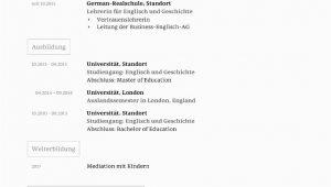 Akademischer Lebenslauf Deutsch Lebenslauf Vorlage Akademisch Kostenloser Download