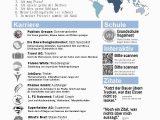 Deutsch Als Fremdsprache Im Lebenslauf Lebenslauf Infografik