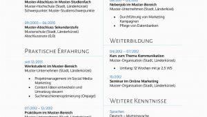Education Lebenslauf Deutsch Bewerbungsmuster Für Bwl