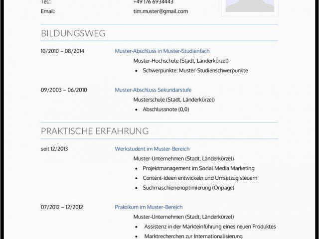 Europass Lebenslauf Deutsch Doc Lebenslauf Modell Muster ...