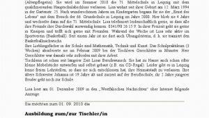 """Klassenarbeit Deutsch Bewerbung Und Lebenslauf Klassenarbeit Zum thema """"eine Bewerbung Schreiben"""""""