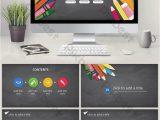 Kreativer Lebenslauf Powerpoint Ppt Schablone Der Kreativen Farbbleistiftbildungsausbildung
