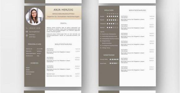 Lebenslauf Design Vorlage Pages Bewerbungsvorlage Premium Bernstein Für Viel Berufserfahrung