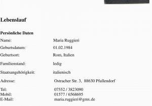 Lebenslauf Deutsch Italienisch Lebenslauf Persönliche Daten Schulbildung Pdf Free Download