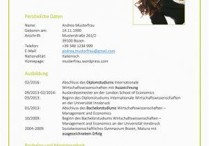 Lebenslauf Deutsch Italienisch Lebenslauf Vorlage Kreativ Vs Klassisch